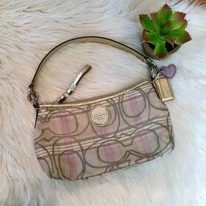 Coach Plaid Groovy Lilac F17210 Shoulder Bag